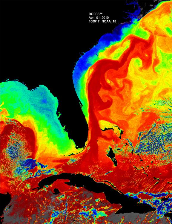 Florida Temperature Map.The Florida Current