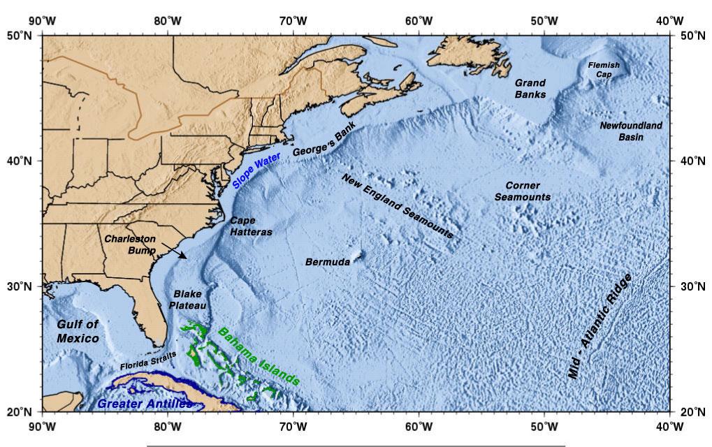 Gulf Stream Map The Gulf Stream Gulf Stream Map